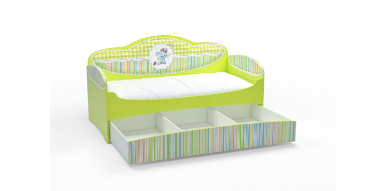 Детский диван-кровать Mia лайм