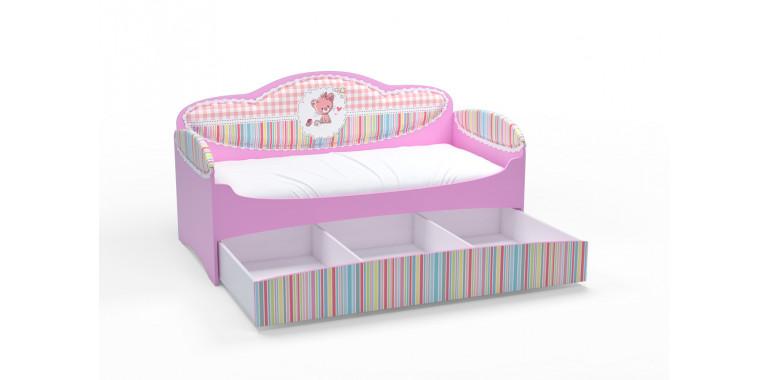 Детский диван-кровать Mia розовый
