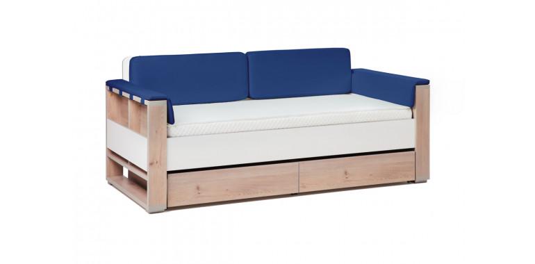 Детский диван-кровать Level индиго