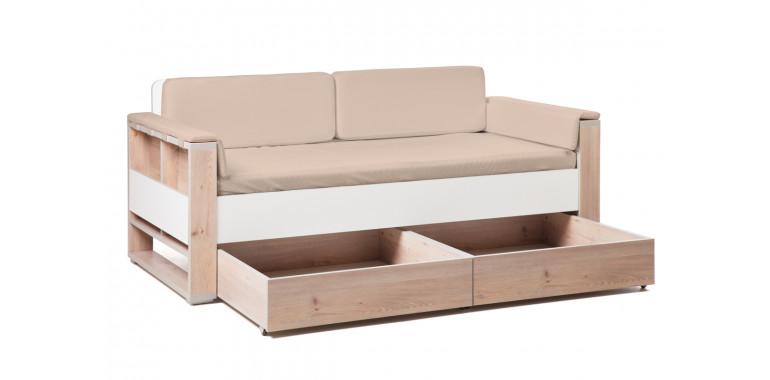 Детский диван-кровать Level кремовый