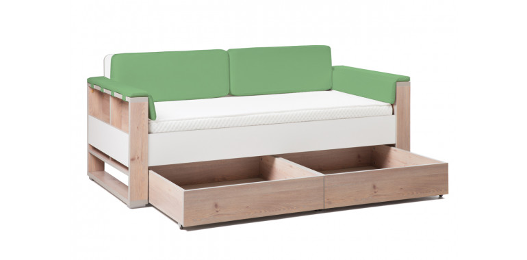 Детский диван-кровать Level зеленый