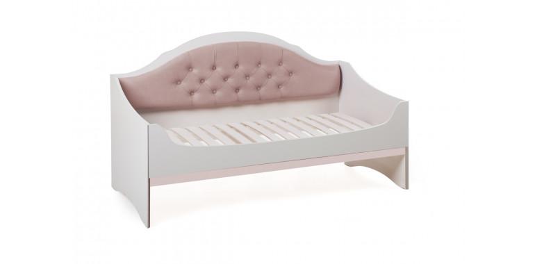 Детский диван-кровать Valencia с каретной стяжкой кремовый