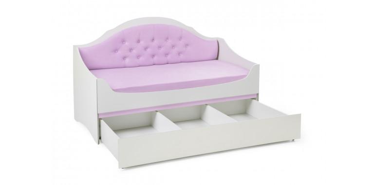 Детский диван-кровать Valencia с каретной стяжкой лиловый