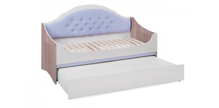 Детский диван-кровать Valencia с каретной стяжкой серенити