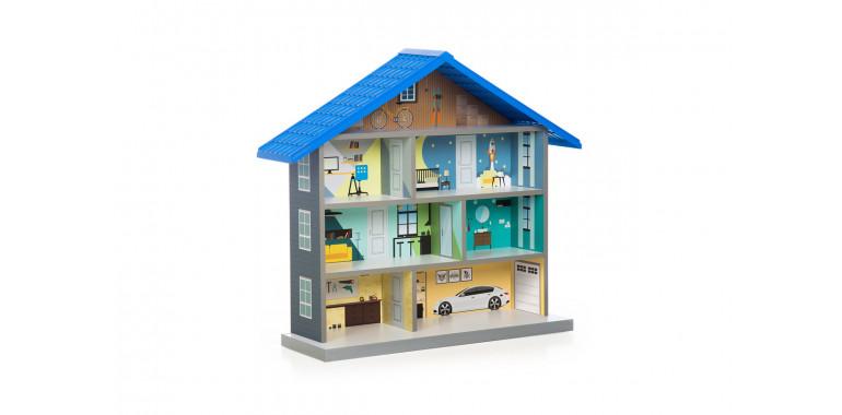 Кукольный домик Bibi синий