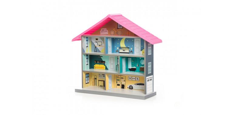 Кукольный домик Bibi розовый