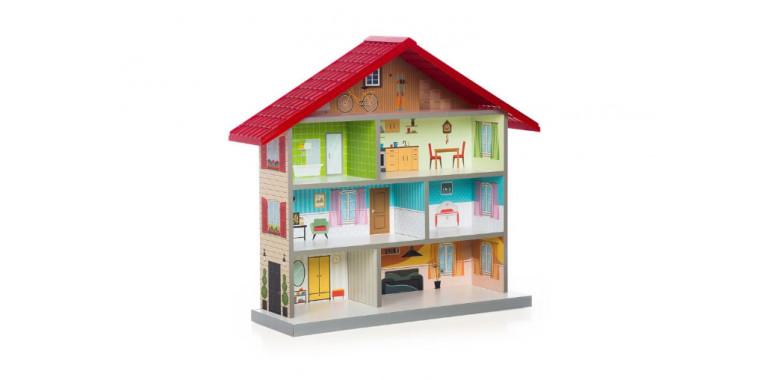 Кукольный домик Mimi красный
