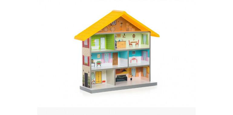 Кукольный домик Mimi желтый