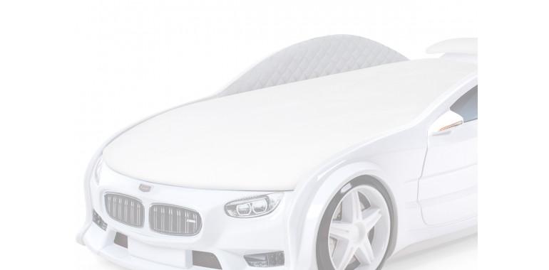 Комплект мягких бортиков Uno Neo ткань замша белый