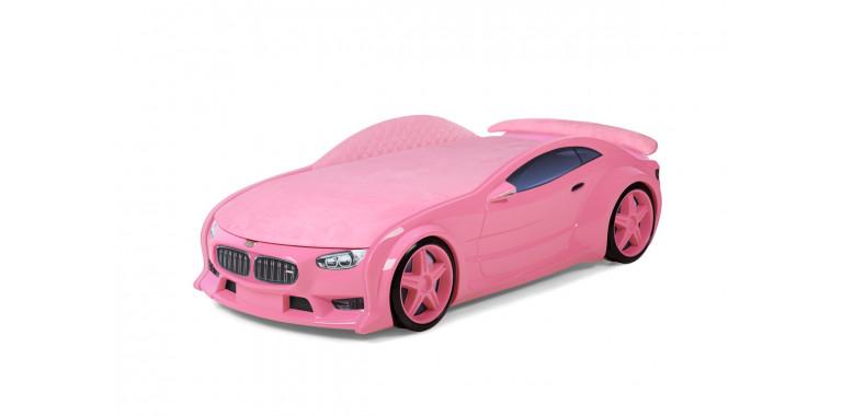 Комплект мягких бортиков Uno Neo ткань замша розовый