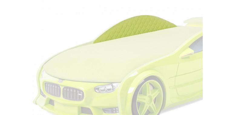 Комплект мягких бортиков Uno Neo ткань замша зеленый