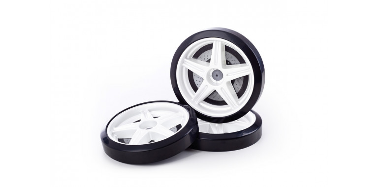 Объемные пластиковые колеса для Light белые