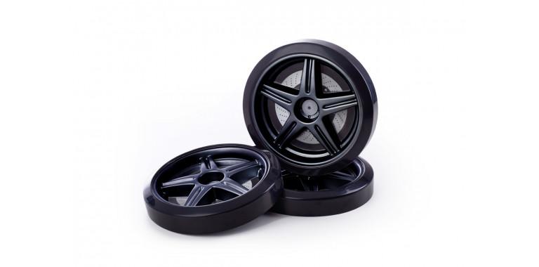 Объемные пластиковые колеса для Uno/Evo/Neo черные