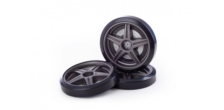 Объемные пластиковые колеса для Uno/Evo/Neo графит