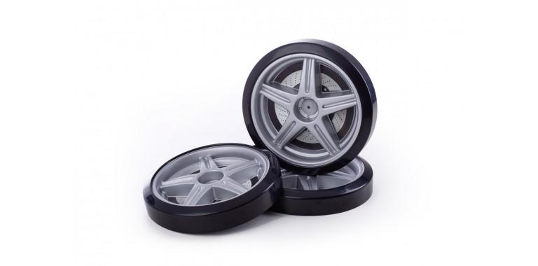 Объемные пластиковые колеса для Uno/Evo/Neo серебро