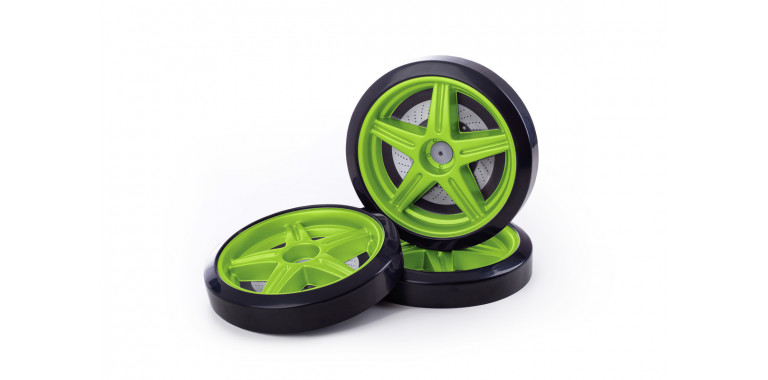 Объемные пластиковые колеса для Uno/Evo/Neo зеленые
