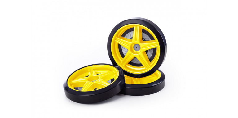 Объемные пластиковые колеса для Uno/Evo/Neo желтые