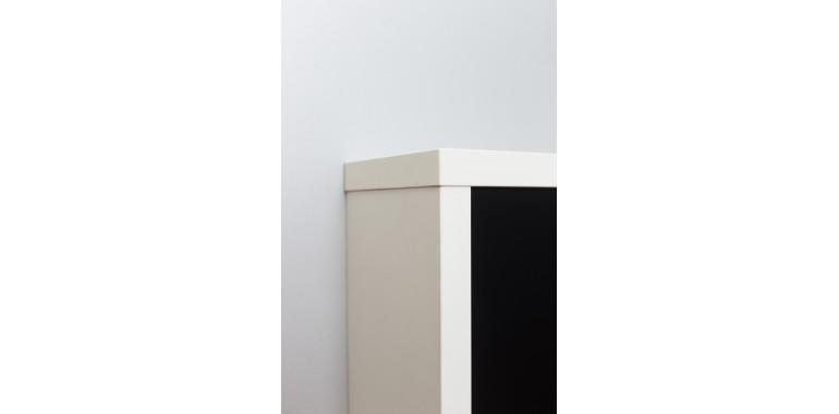Обувница «Люкс» стекло черное 2-х секционная белый шагрень