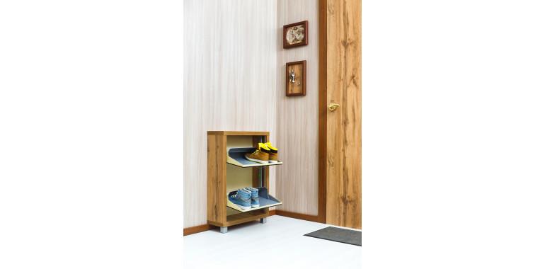 Обувница «Люкс» зеркало 2-х секционная дуб вотан