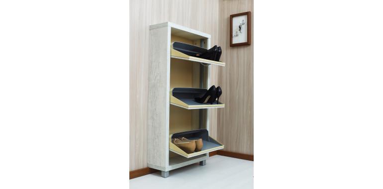Обувница «Люкс» ЛДСП 3-х секционная бетон пайн