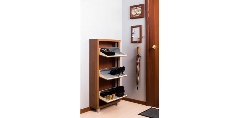 Обувница «Люкс» ЛДСП 3-х секционная орех