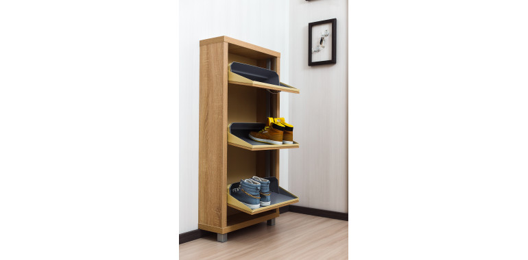 Обувница «Люкс» ЛДСП 3-х секционная дуб сонома