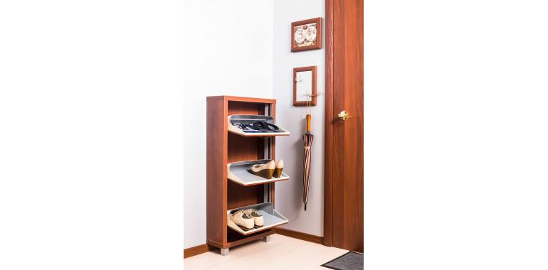 Обувница «Люкс» ЛДСП 3-х секционная вишня