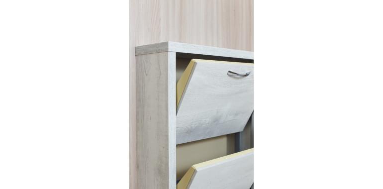 Обувница «Люкс» ЛДСП 4-х секционная бетон пайн