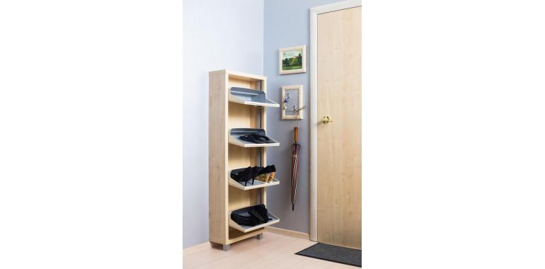 Обувница «Люкс» ЛДСП 4-х секционная клён