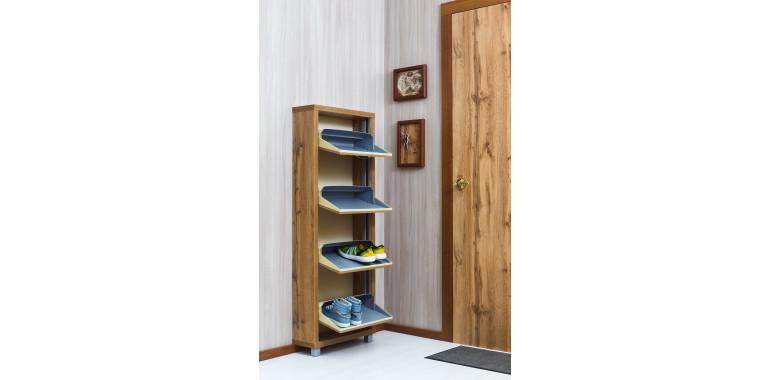 Обувница «Люкс» ЛДСП 4-х секционная дуб вотан