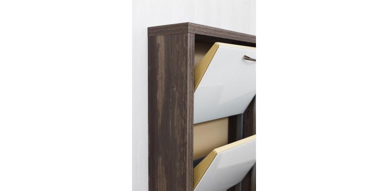 Обувница «Люкс» стекло белое 4-х секционная руанда