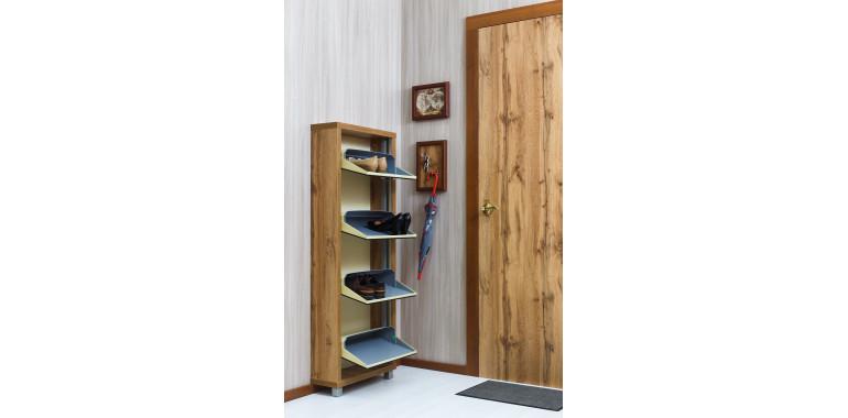 Обувница «Люкс» зеркало 4-х секционная дуб вотан