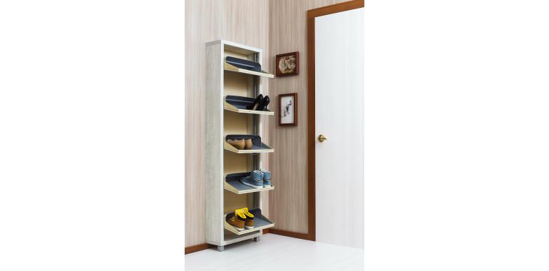 Обувница «Люкс» ЛДСП 5-ти секционная бетон пайн