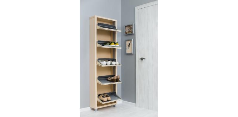 Обувница «Люкс» ЛДСП 5-ти секционная кремовая