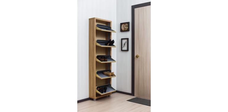 Обувница «Люкс» ЛДСП 5-ти секционная дуб сонома