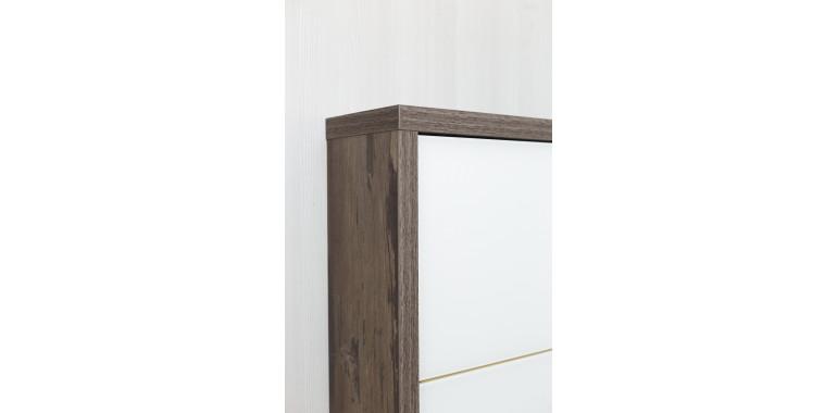 Обувница «Люкс» стекло белое 5-ти секционная руанда