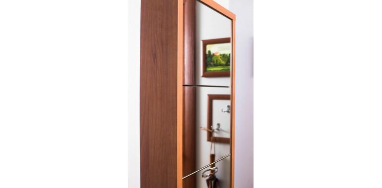 Обувница «Люкс» зеркало 5-ти секционная орех