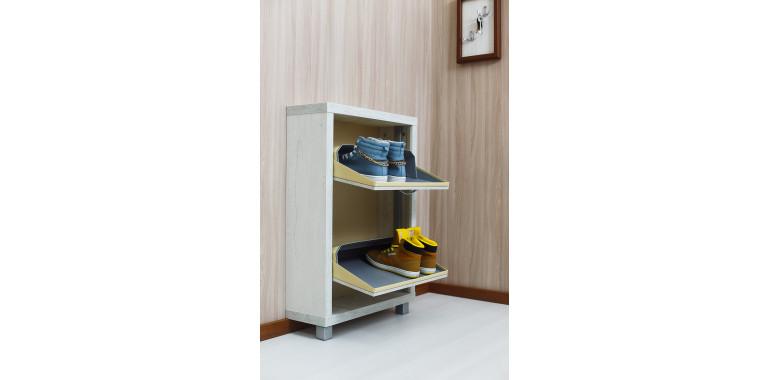 Обувница «Люкс» ЛДСП 2-х секционная бетон пайн