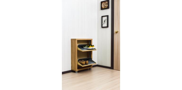 Обувница «Люкс» ЛДСП 2-х секционная дуб сонома
