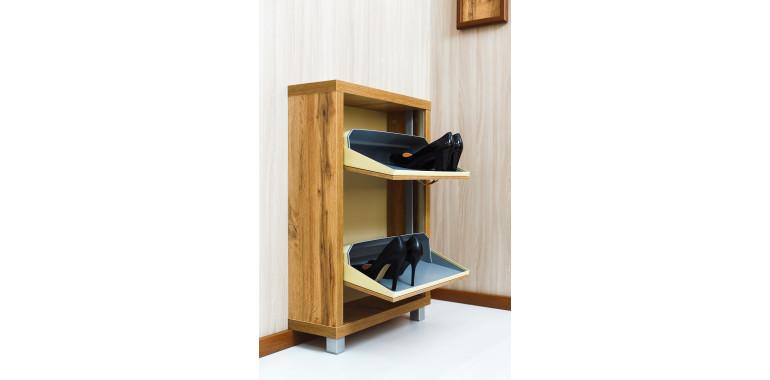 Обувница «Люкс» ЛДСП 2-х секционная дуб вотан