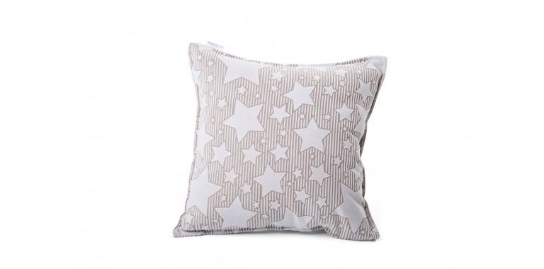 Подушка 35*35 белая звезда