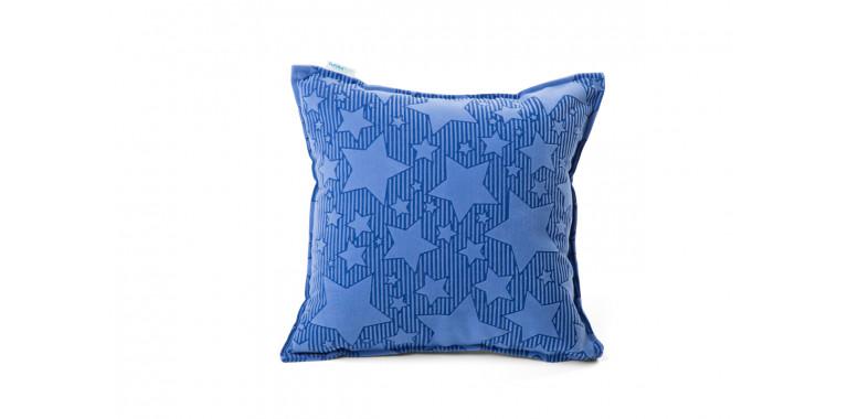Подушка 35*35 синяя звезда