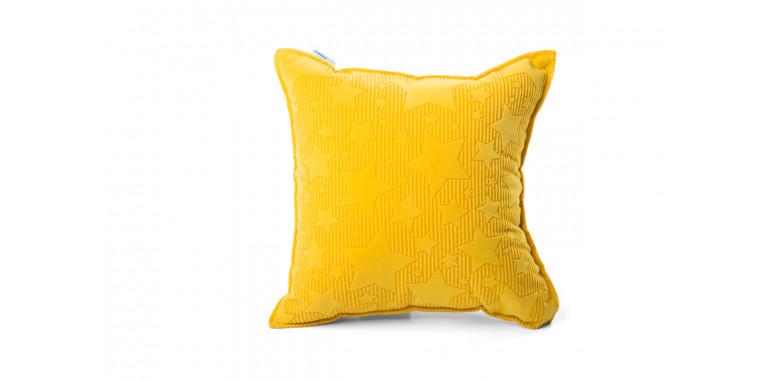 Подушка 35*35 желтая звезда