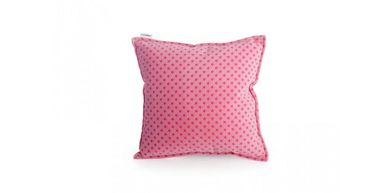 Подушка 35*35 розовая звезда