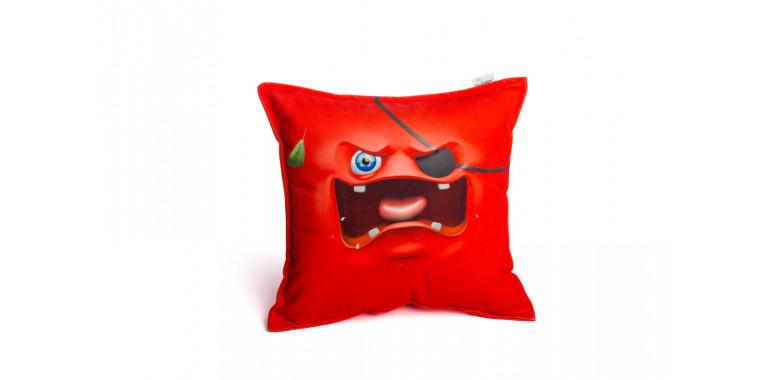 Подушка декоративная Smile красная