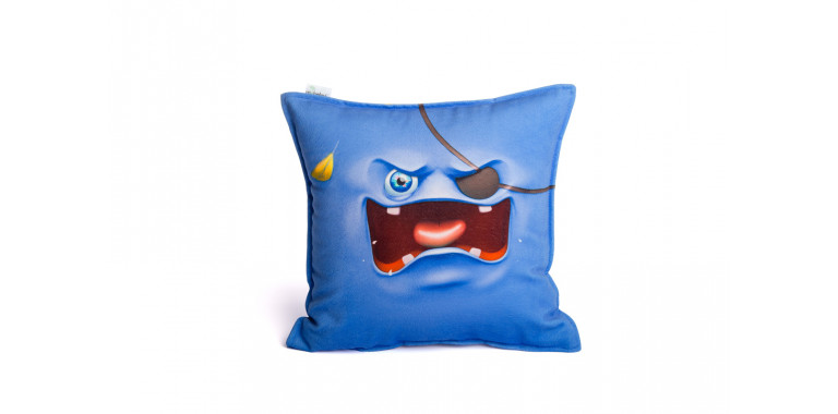 Подушка декоративная Smile синяя