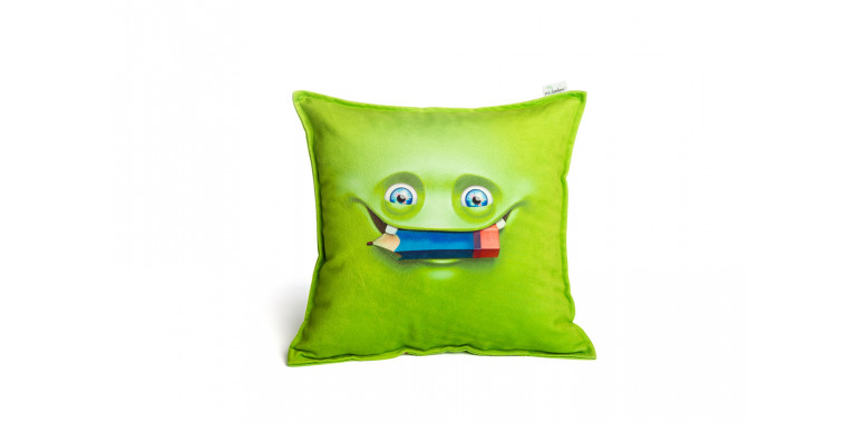 Подушка декоративная Smile зеленая