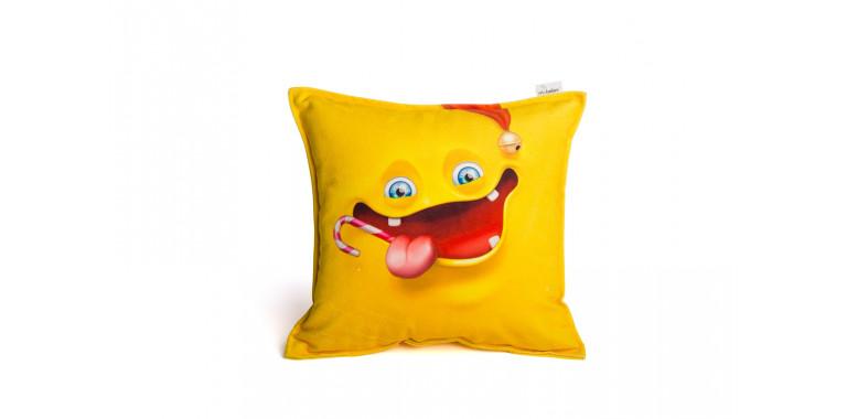 Подушка декоративная Smile желтая