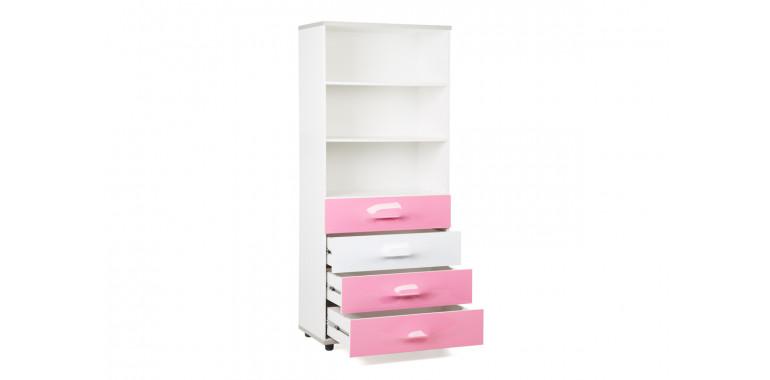 Книжный шкаф Lastic 8 розовый