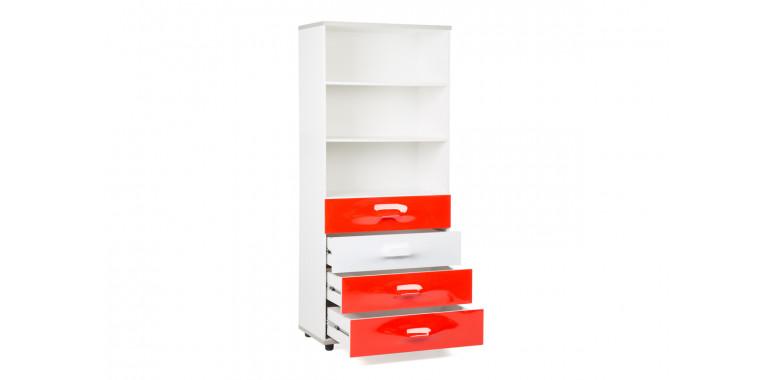 Книжный шкаф Lastic 8 красный